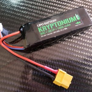 LIPO BATTERIE 3S1P KRYPTONIUM 30C 1000mah