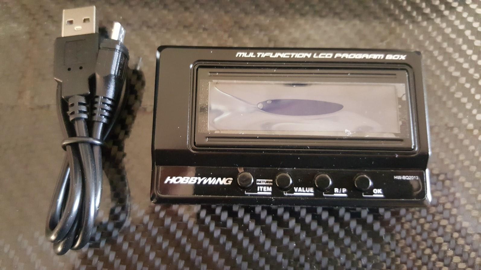 hobbywing boitier de programmation lcd multiple pour controleur batterie rc racing power boat rc. Black Bedroom Furniture Sets. Home Design Ideas
